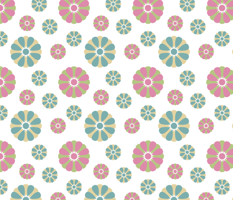 Pastel Flowers fabric by peacefuldreams on Spoonflower - custom fabric