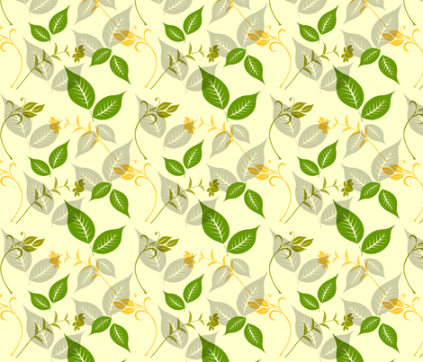 Green and Yellow Leaves fabric by peacefuldreams on Spoonflower - custom fabric