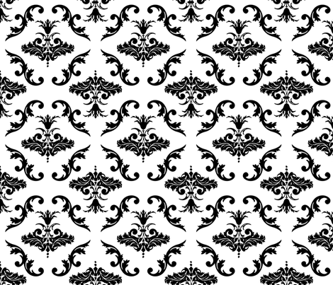 Vintage Damask fabric by pencreations on Spoonflower - custom fabric