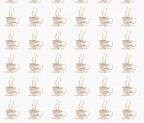Morning Coffee fabric by pencreations on Spoonflower - custom fabric