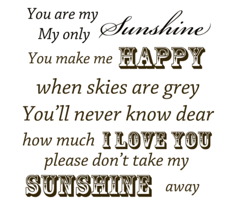 You Are My Sunshine Vintage fabric by peacefuldreams on Spoonflower - custom fabric