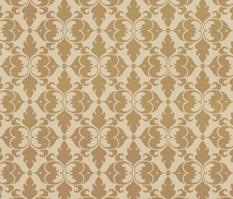 Antique Damask Gold fabric by peacefuldreams on Spoonflower - custom fabric