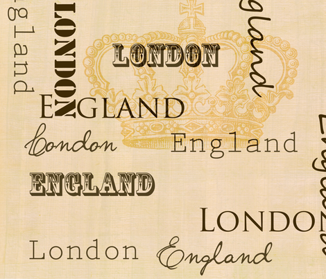 London England Crown fabric by peacefuldreams on Spoonflower - custom fabric