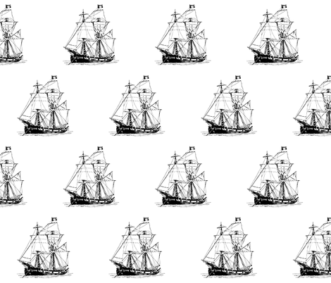 Pirate Ship fabric by pencreations on Spoonflower - custom fabric