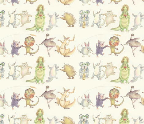 Aussie Animal Corroboree fabric by clemency_brown on Spoonflower - custom fabric
