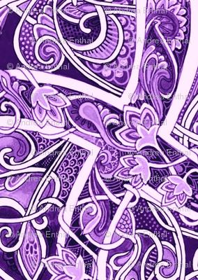 Follow the Lavender Brick Road