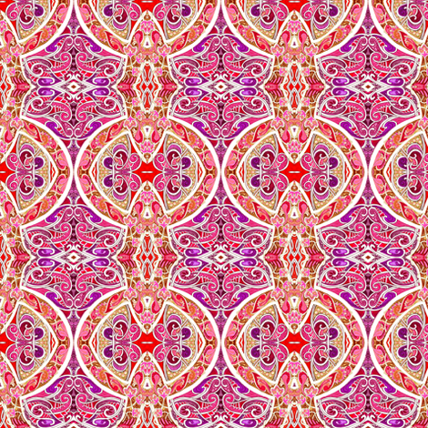 Seeing Red (an ornate geometric with fine scale lines) fabric by edsel2084 on Spoonflower - custom fabric
