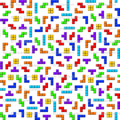 Tetris squares on white