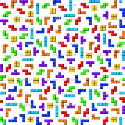 Tetris squares on white