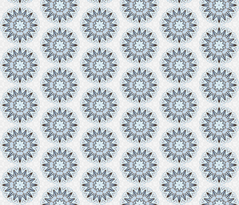snowflake_9 fabric by peegee on Spoonflower - custom fabric