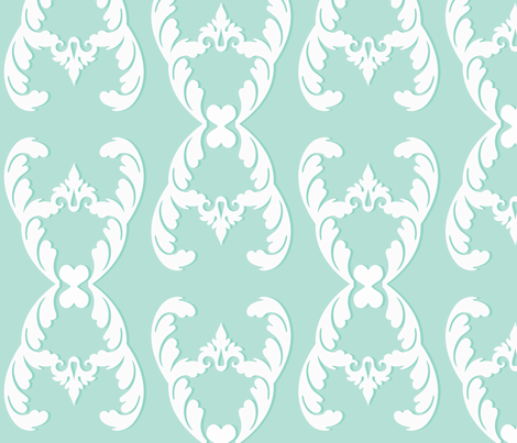 filigree_mint fabric by honey&fitz on Spoonflower - custom fabric