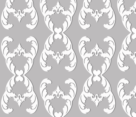 filigree_gray fabric by honey&fitz on Spoonflower - custom fabric
