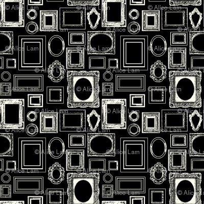 salon wall, black / white