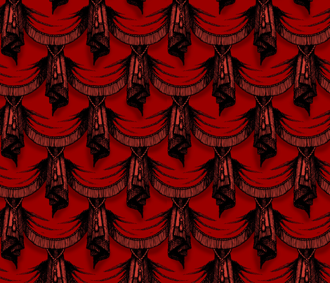 Gothic drapes - blood fabric by thecalvarium on Spoonflower - custom fabric