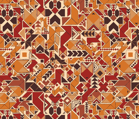 Autumn Foxes fabric by motyka on Spoonflower - custom fabric