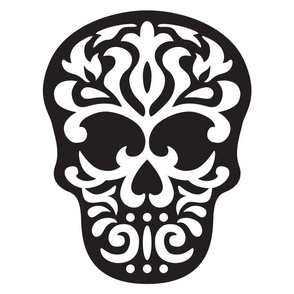 Skull Damask 