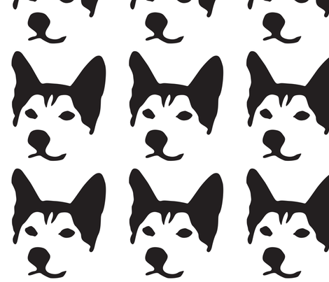 Husky Large fabric by mariafaithgarcia on Spoonflower - custom fabric