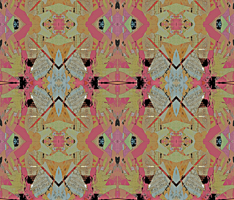 Hidden Faces fabric by anniedeb on Spoonflower - custom fabric