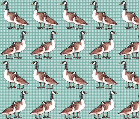 Canada Geese and Snowflakes fabric by dogdaze_ on Spoonflower - custom fabric