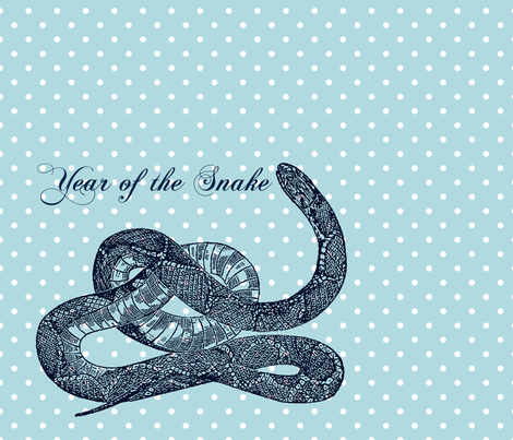 Year of the Snake Polka Dot fabric by peacefuldreams on Spoonflower - custom fabric