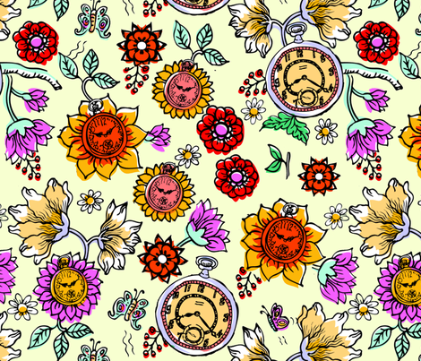 Timeflowers_4_repeat_1 fabric by mcuetara on Spoonflower - custom fabric