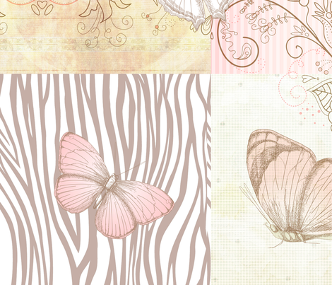 Sweet Pink Butterflies fabric by peacefuldreams on Spoonflower - custom fabric