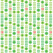 Ox Year Flowers - Green