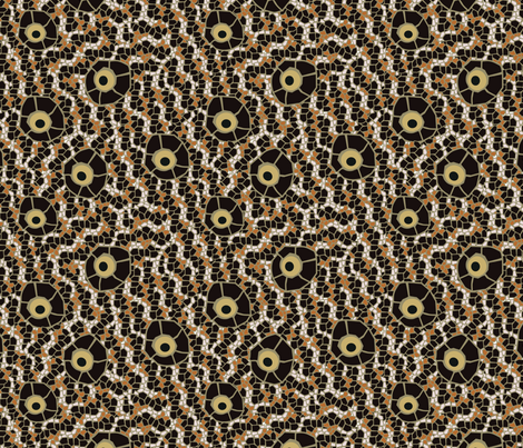 snake eye mosaic brown fabric by kociara on Spoonflower - custom fabric
