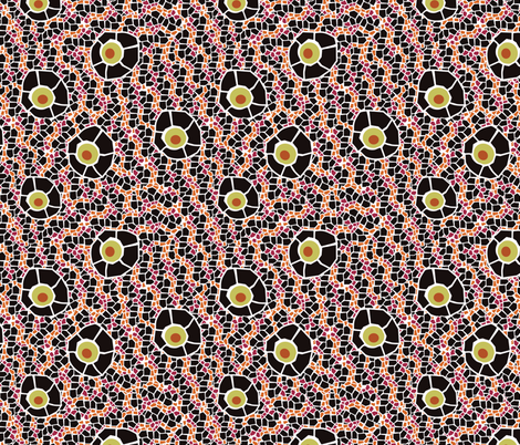 snake eye mosaic black fabric by kociara on Spoonflower - custom fabric