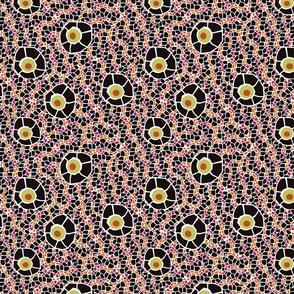 snake eye mosaic black