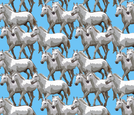 White Horses fabric by dogdaze_ on Spoonflower - custom fabric