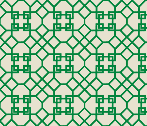Lattice- Kelly Green-Large fabric by melberry on Spoonflower - custom fabric