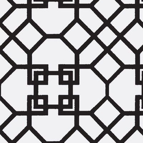 Lattice- Black/White-Large