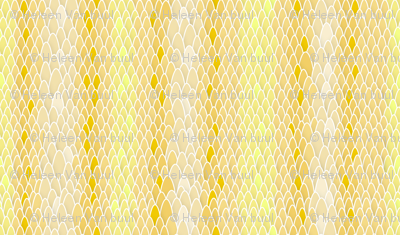 Snakeskin in yellow