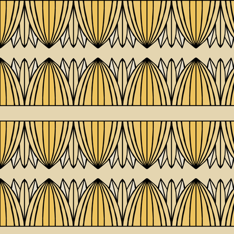 Golden Petal Stripe fabric by pond_ripple on Spoonflower - custom fabric