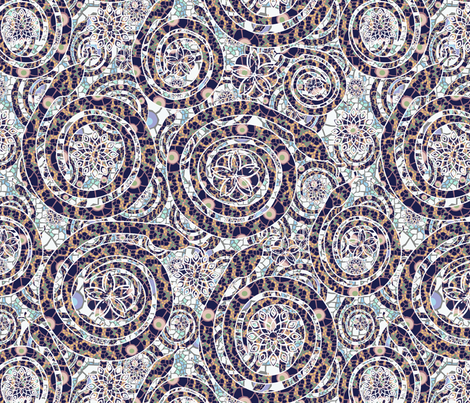 snake mosaic faded fabric by kociara on Spoonflower - custom fabric