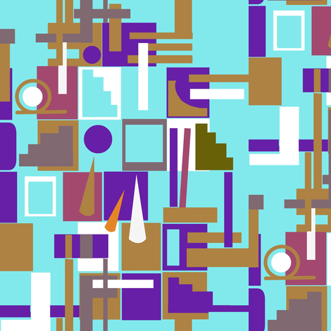 Sky City fabric by boris_thumbkin on Spoonflower - custom fabric