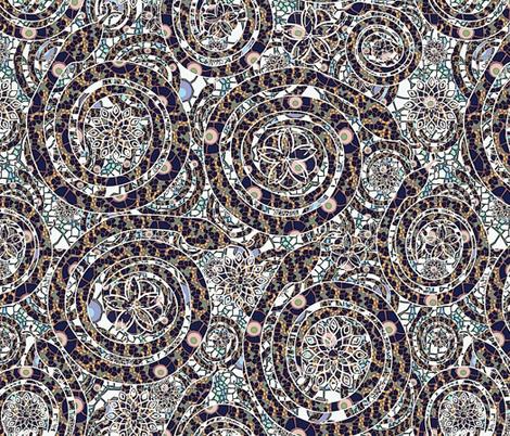 snake mosaic fabric by kociara on Spoonflower - custom fabric