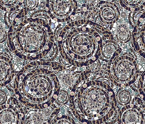 snake mosaic fabric by kociara on Spoonflower - custom fabric