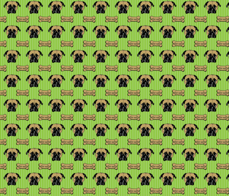 green stripe roxie fabric by roxiespeople on Spoonflower - custom fabric