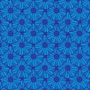 Boho Blossoms Tile (Blue)