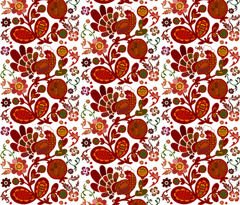THE RED ROOSTER fabric by bluevelvet on Spoonflower - custom fabric