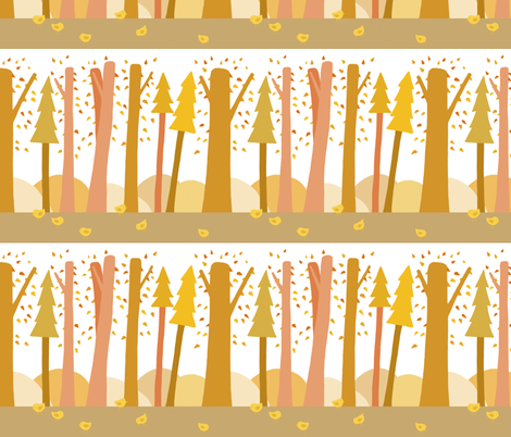 autumn forest fabric by renarde on Spoonflower - custom fabric