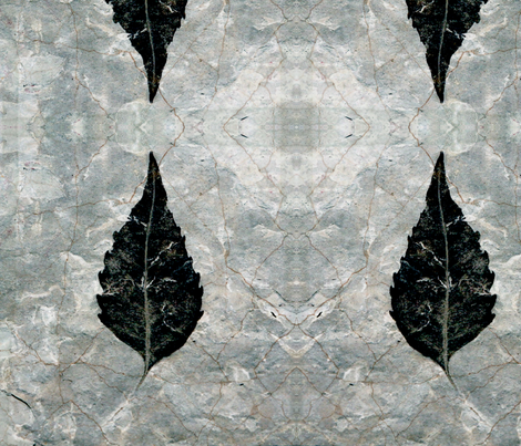 Giant Black leaf fossil fabric by nascustomwallcoverings on Spoonflower - custom fabric