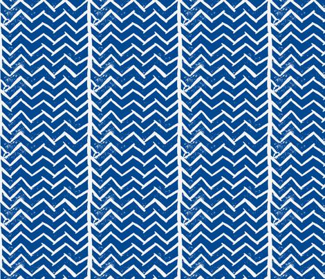 Chevron - Hand Carved Stamp - Dk. Blue