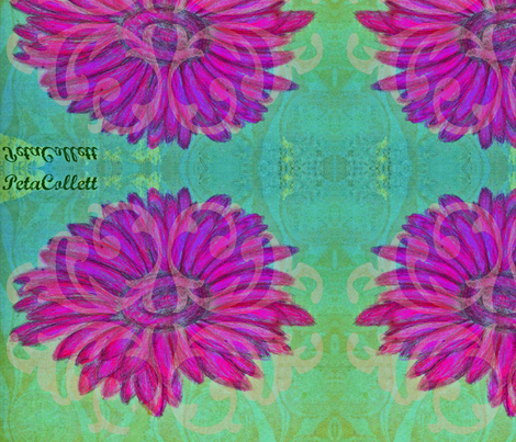 Gerbera  fabric by petaisalive on Spoonflower - custom fabric