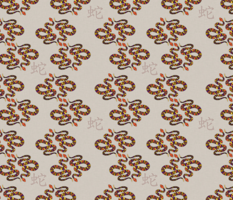 YearoftheSnake fabric by melhales on Spoonflower - custom fabric