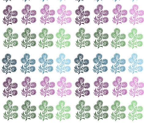 Floral Color Trio fabric by peacefuldreams on Spoonflower - custom fabric