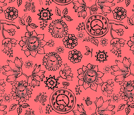 timeflowers_repeat fabric by mcuetara on Spoonflower - custom fabric