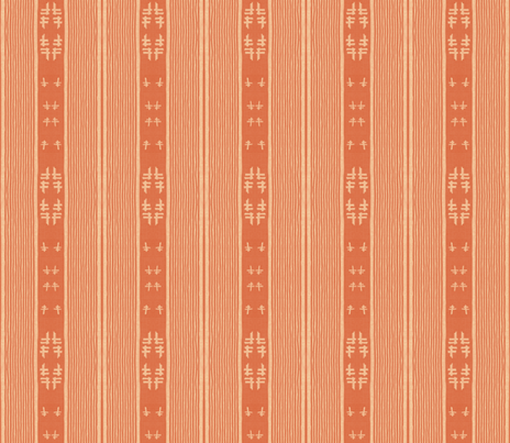 chopstix - terra-cotta fabric by materialsgirl on Spoonflower - custom fabric